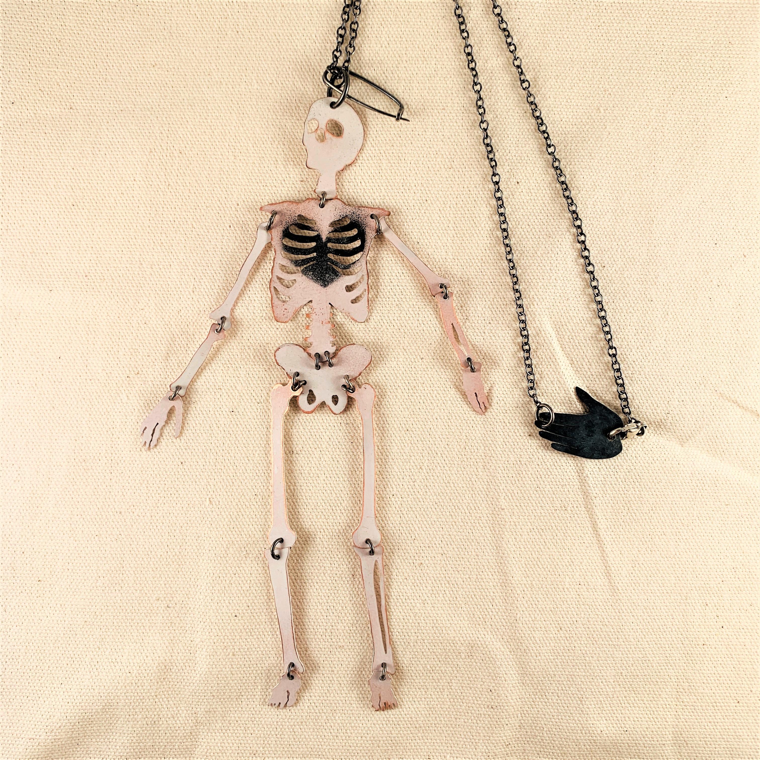 Anna Watson - Skeleton Necklace/ brooch