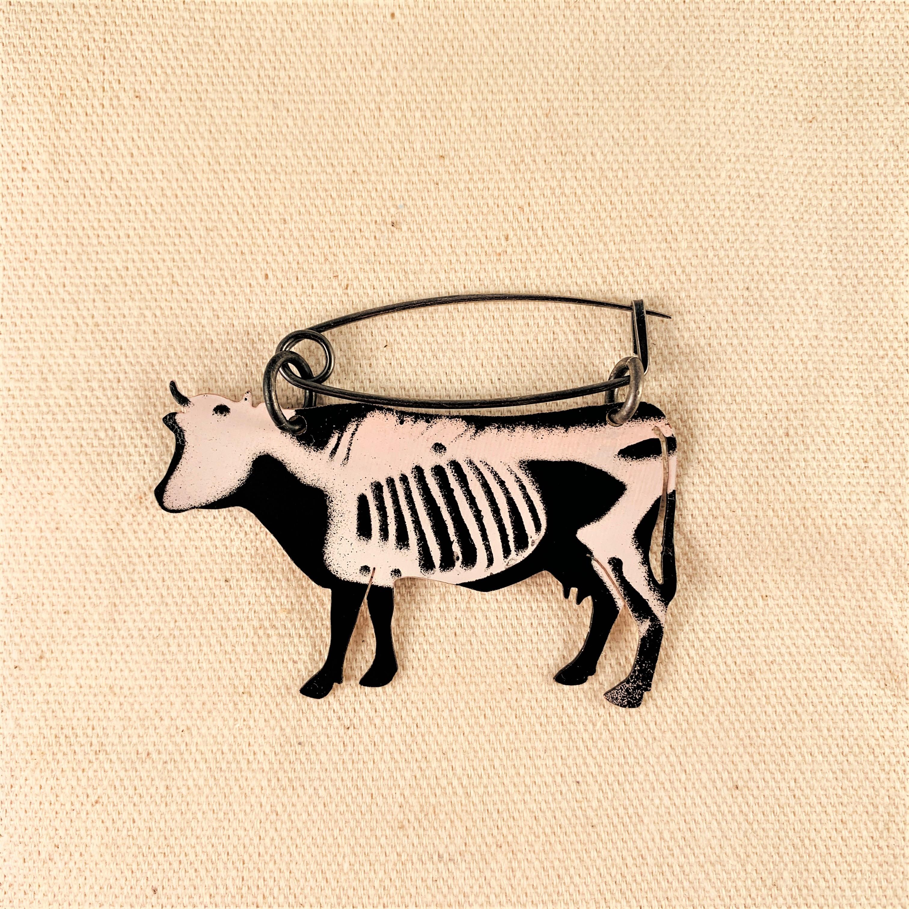 Anna Watson - X-ray Cow Brooch