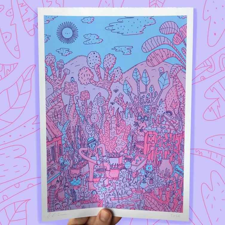 OMGIDRAWEDIT - Gardener A3 Print