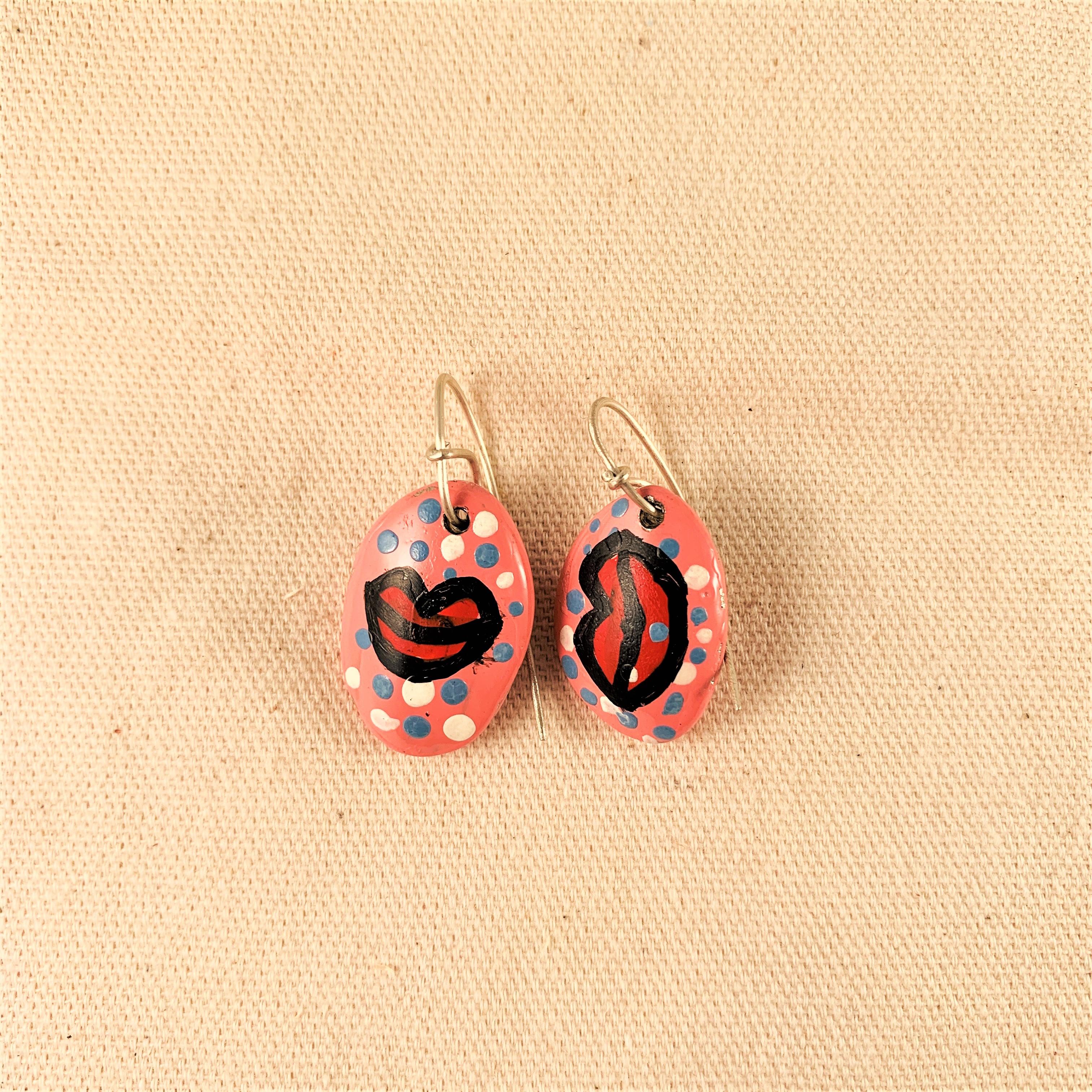 Anna Watson - Pink Lip Earrings