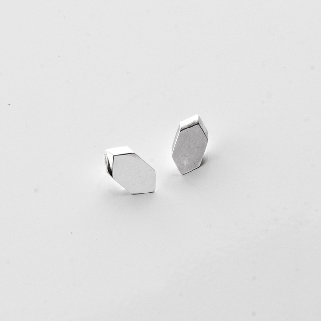 Jake McCombe Jewellery - Hex Stud Earrings