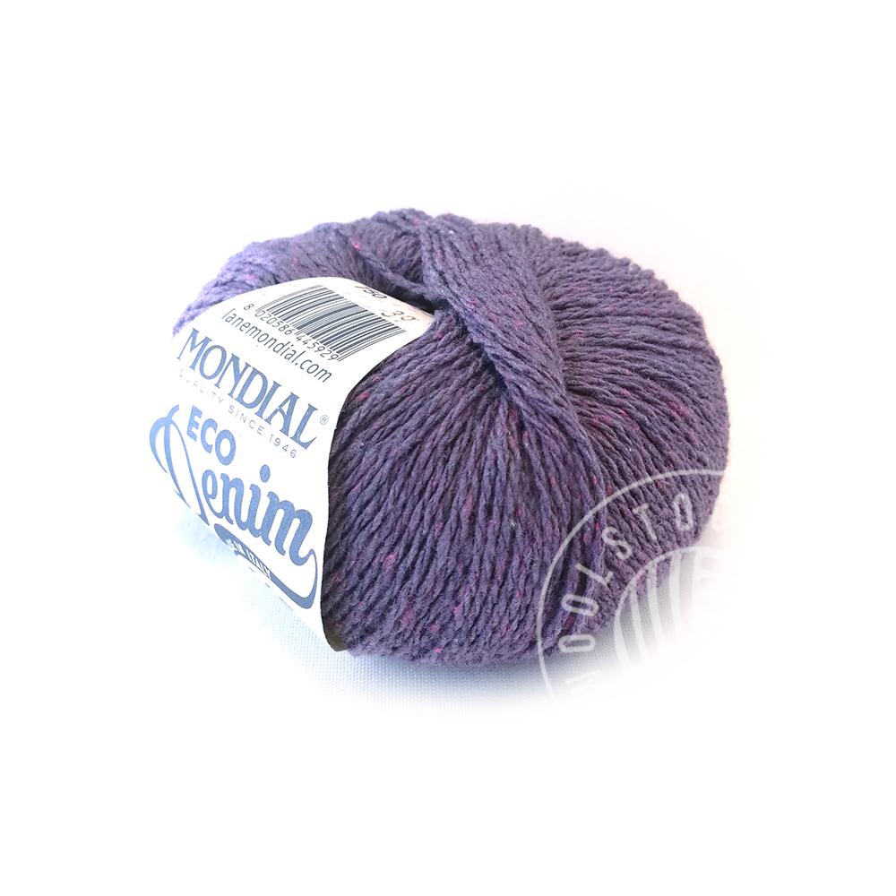 Eco Denim 750 purple tweed