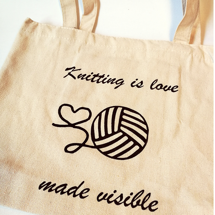 "Mulepose ""Knitting is love made visible"""