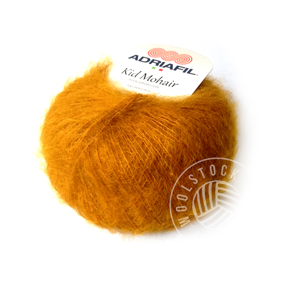 Kid Mohair 16 brændt orange
