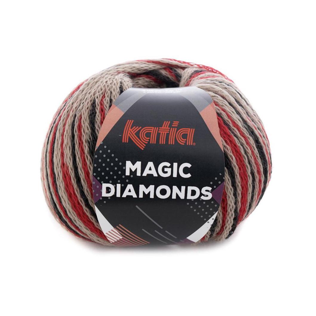 Magic Diamonds 58 rød/sort/grå