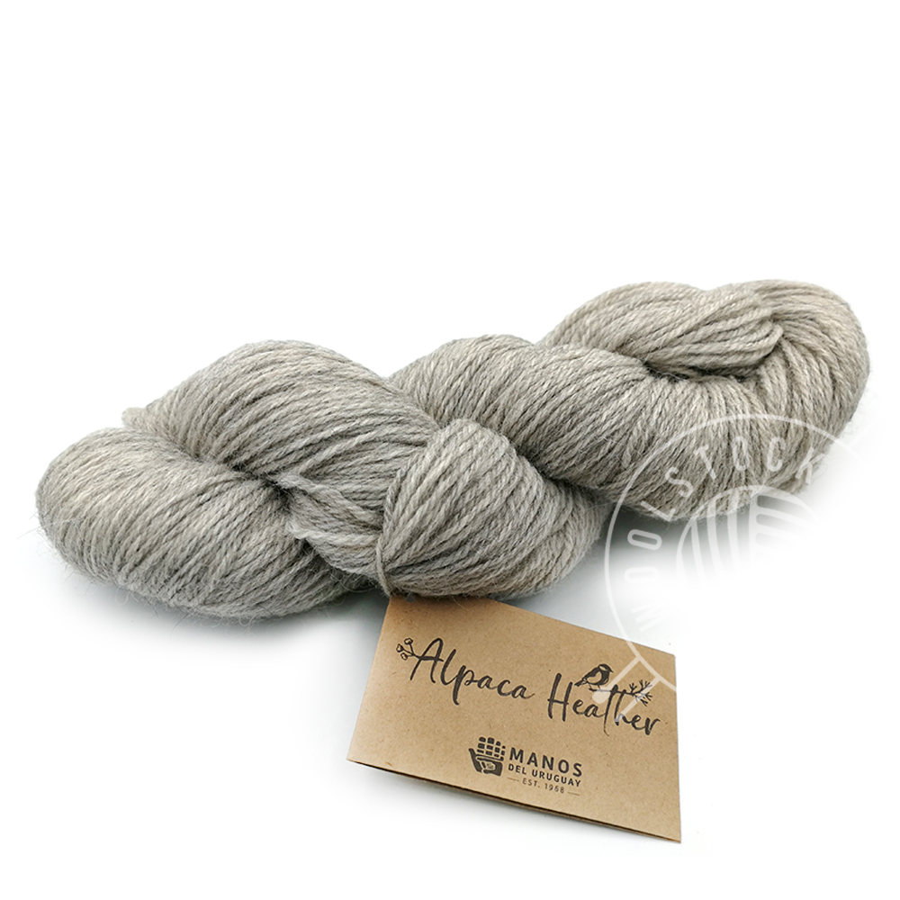 Alpaca Heather Undyed 703 musegrå