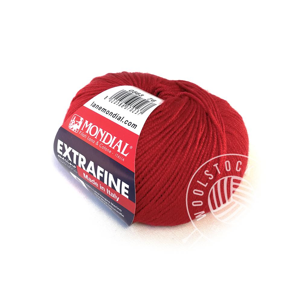 Extrafine Merino 263 tomato red