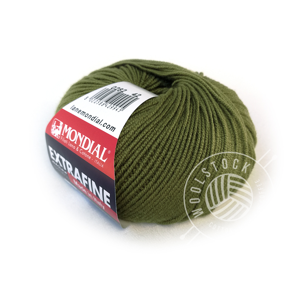 Extrafine Merino 282 olive green