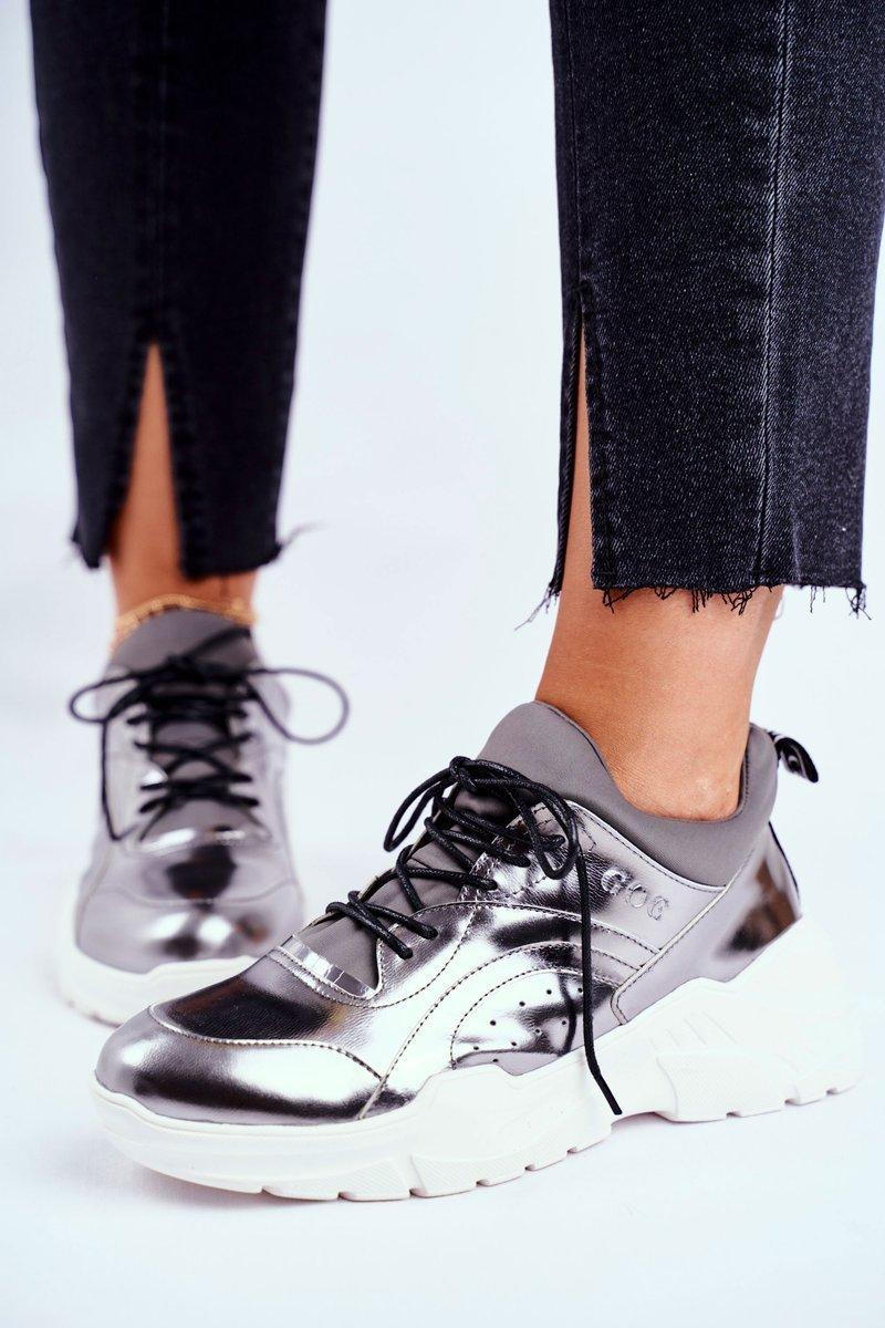 Dam Sneakers Goe Silver