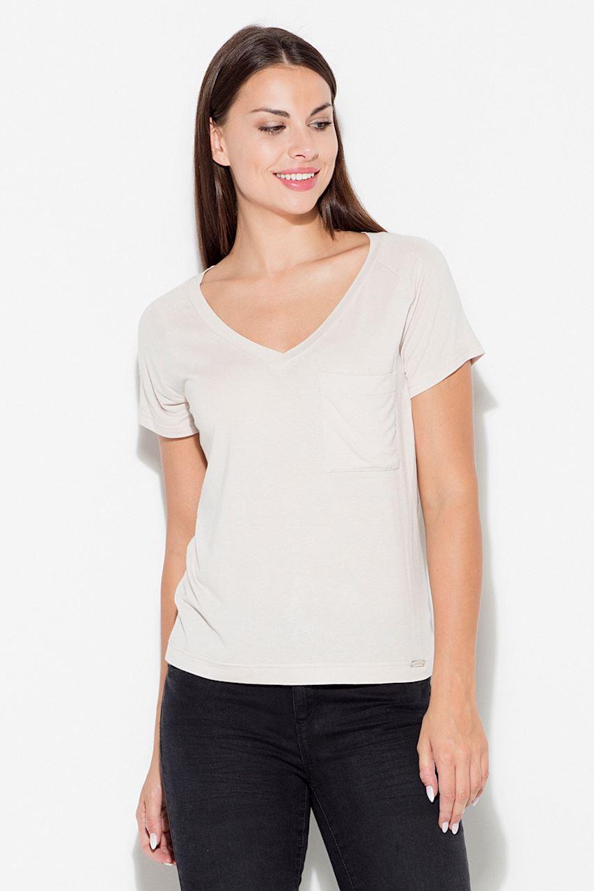 Viskos T-shirt Beige