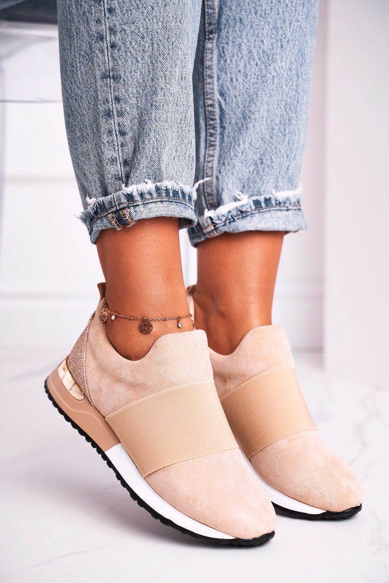 Sneakers Slip-on Beige Say Something