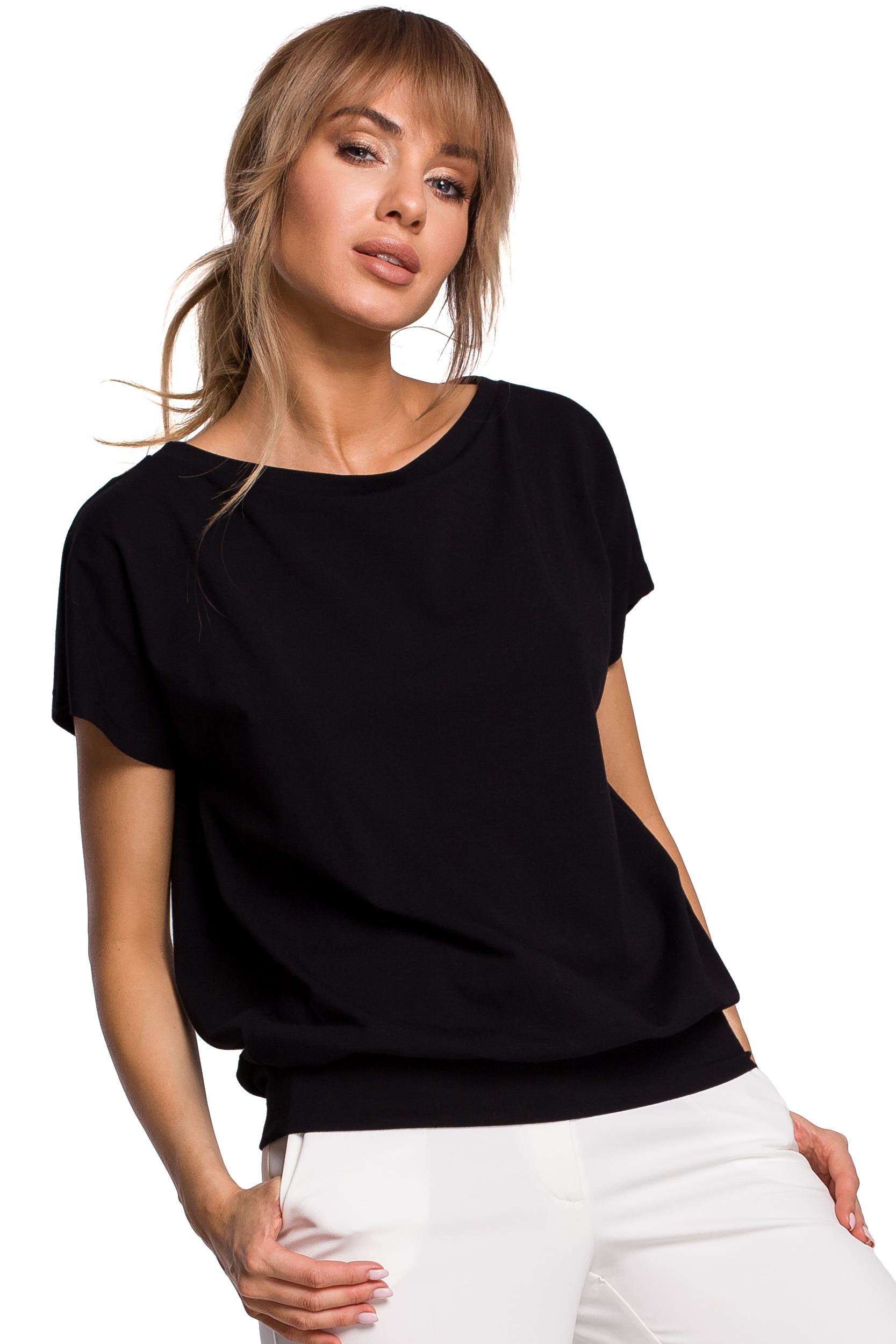 Svart T-shirt med öppen rygg