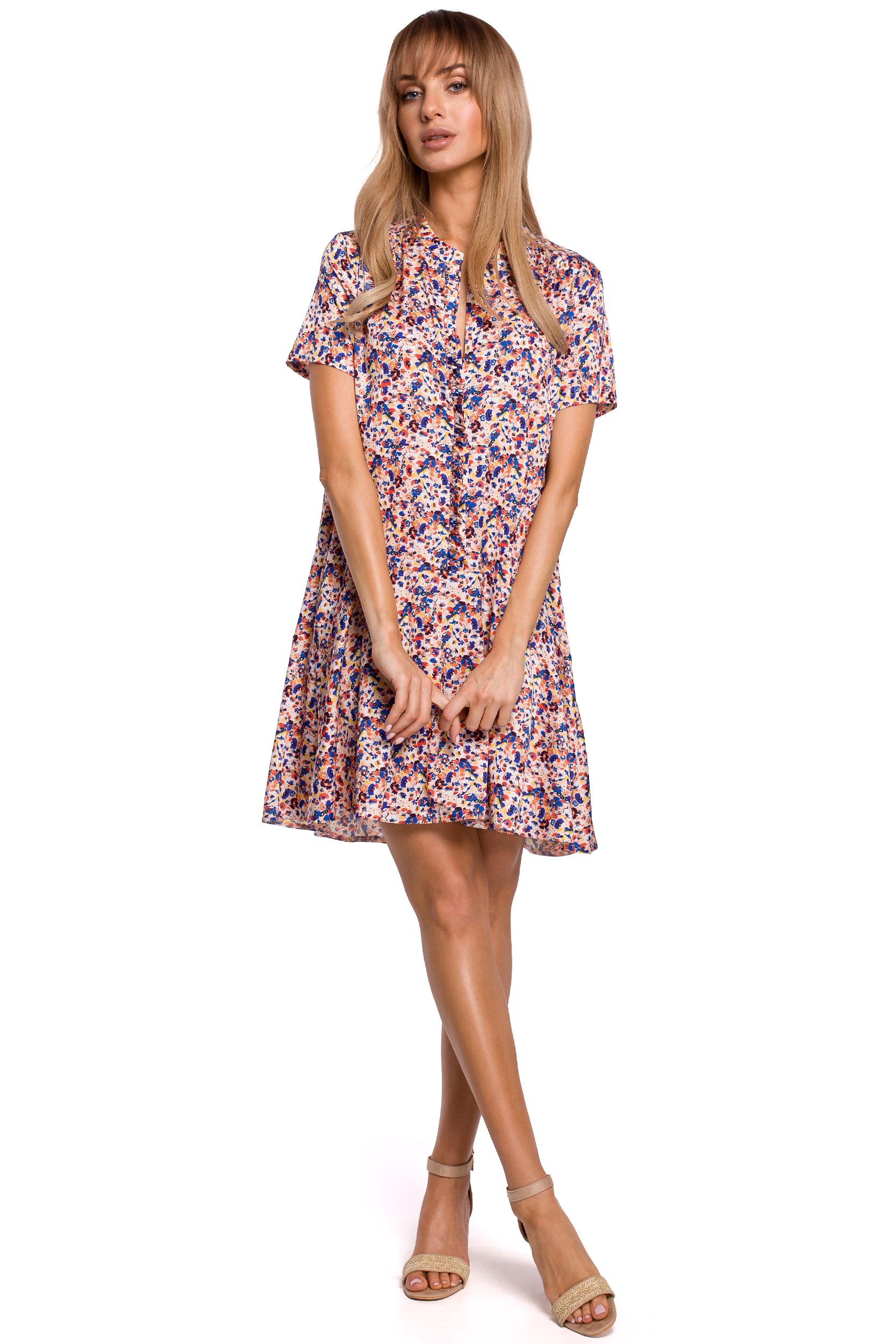 Blommig Skjortklänning