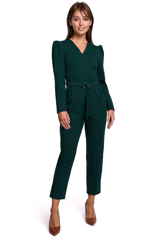 Jumpsuit med bälte Grön