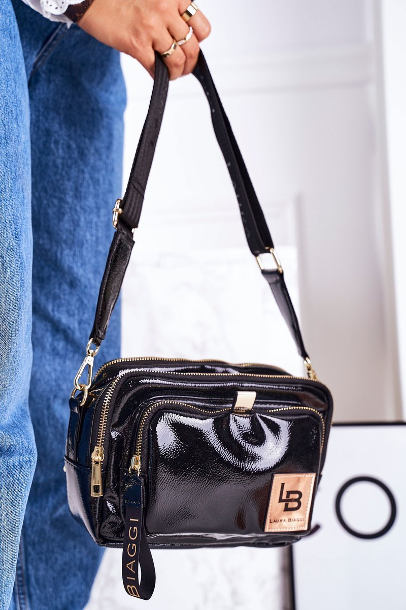 Messenger Bag  LAURA BIAGGI Shiny Black