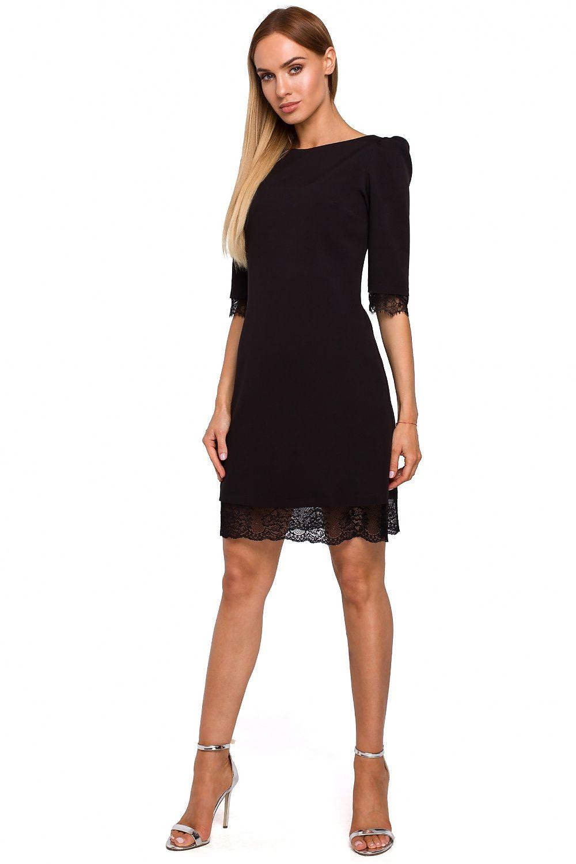 Svart klänning med spets