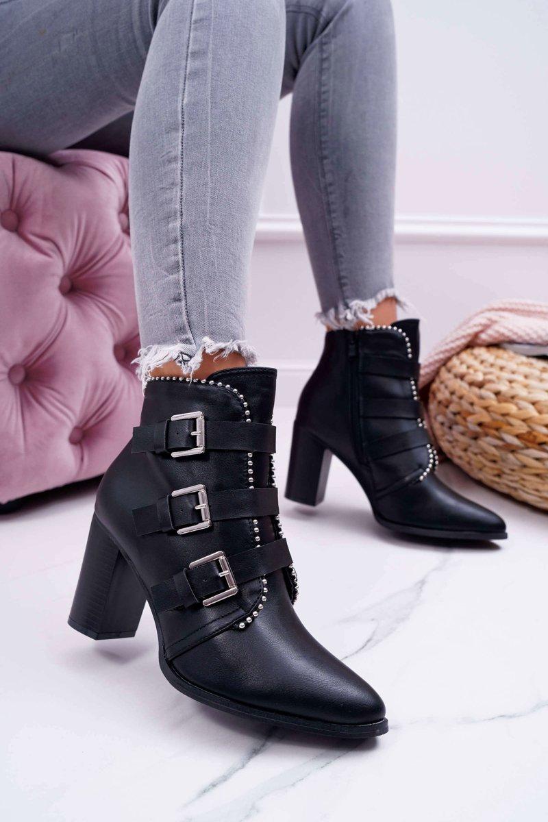 Boots High Heel Svart
