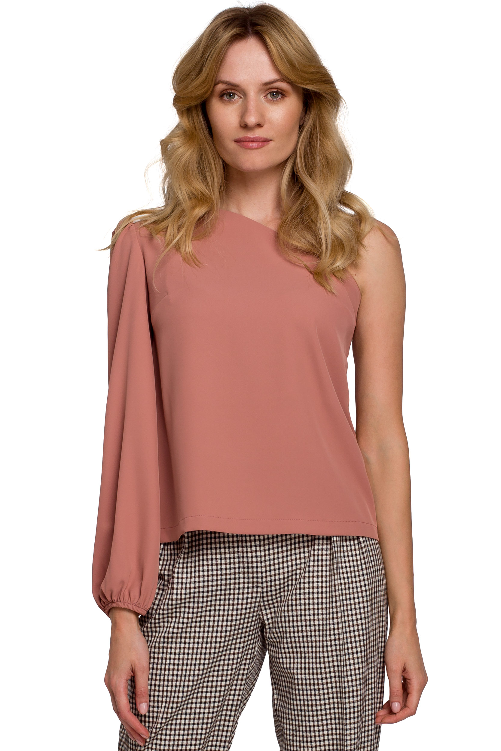 One Shoulder Topp Rosa