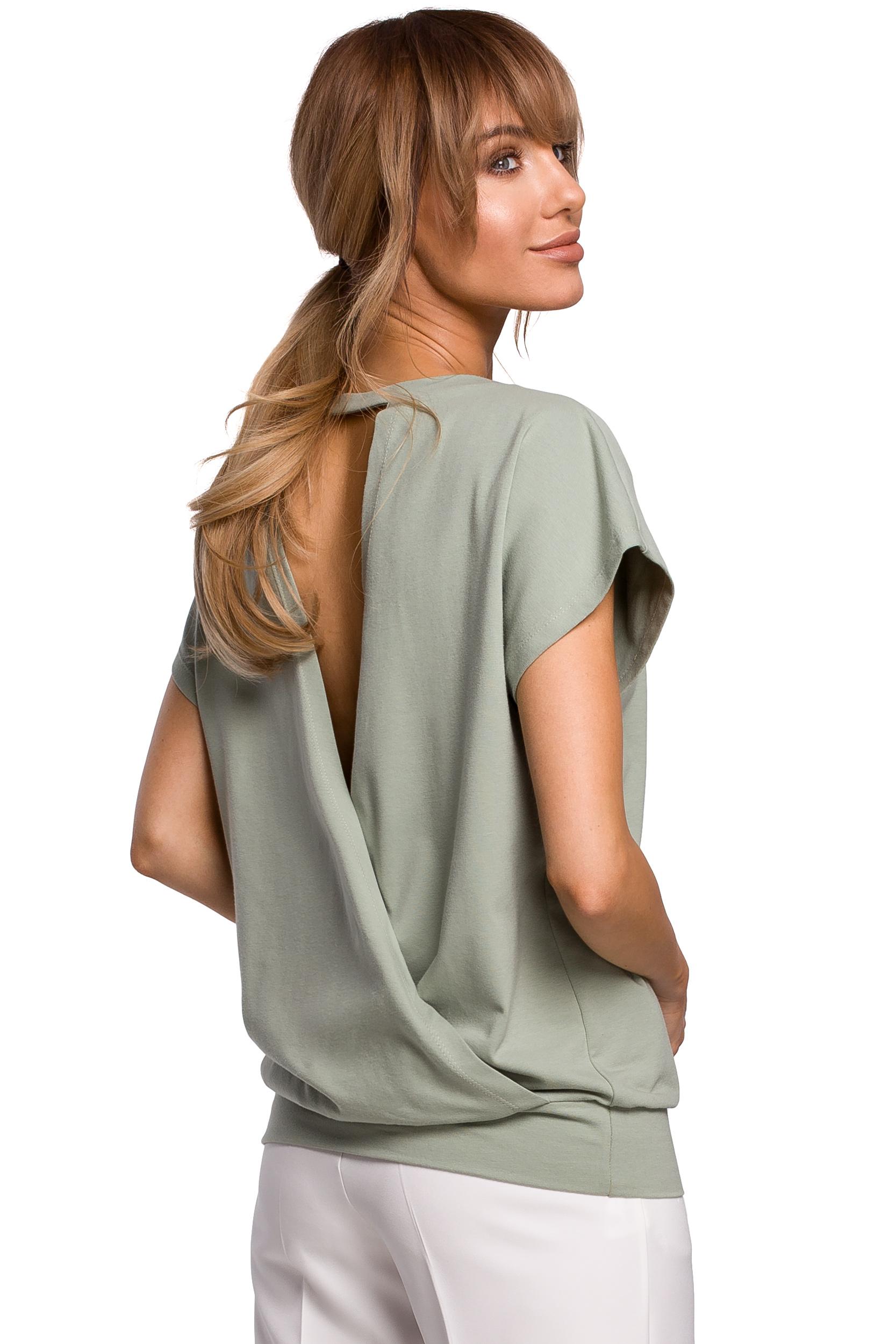 Ljusgrön T-shirt med öppen rygg