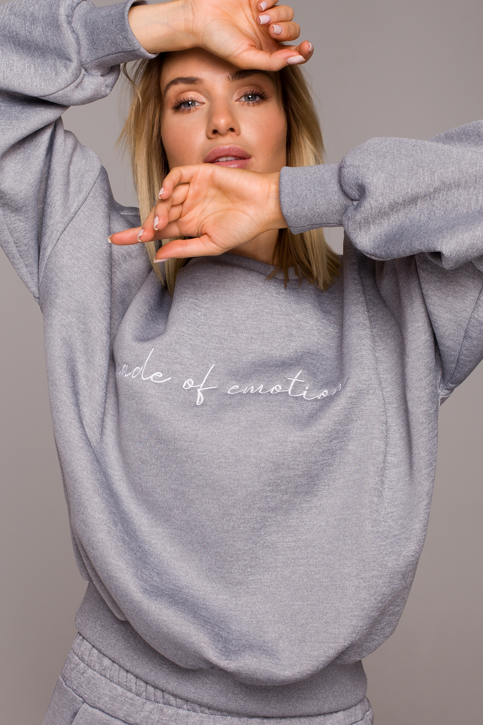 Oversized Sweatshirt Grå