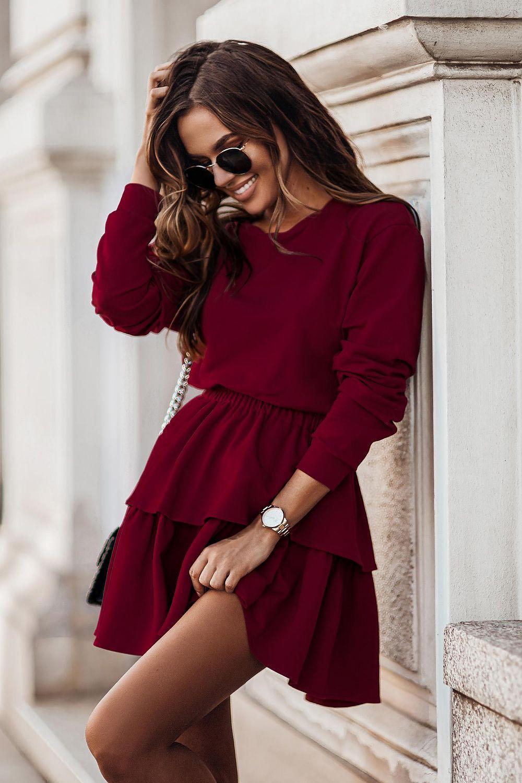 Set tröja/kjol av bomull