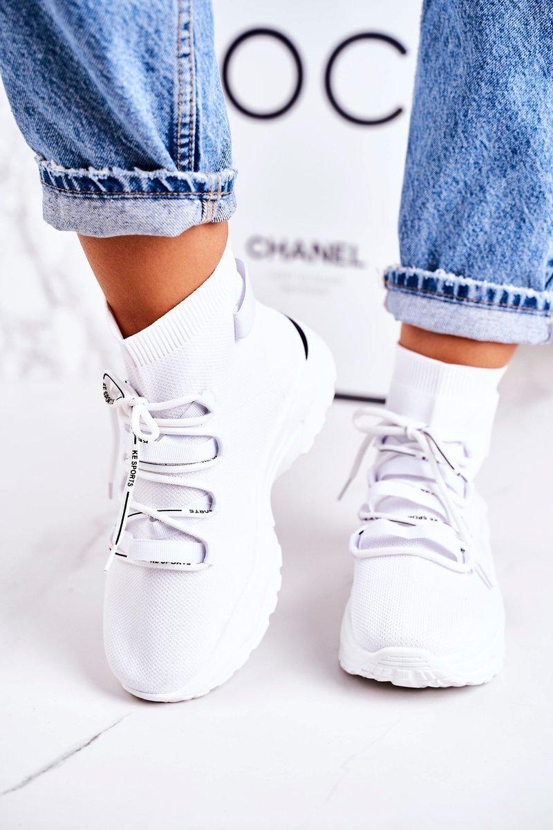 Dam sport sockskor Vit