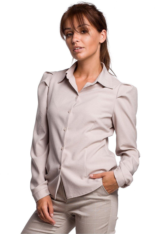 Puffärmskjorta Beige