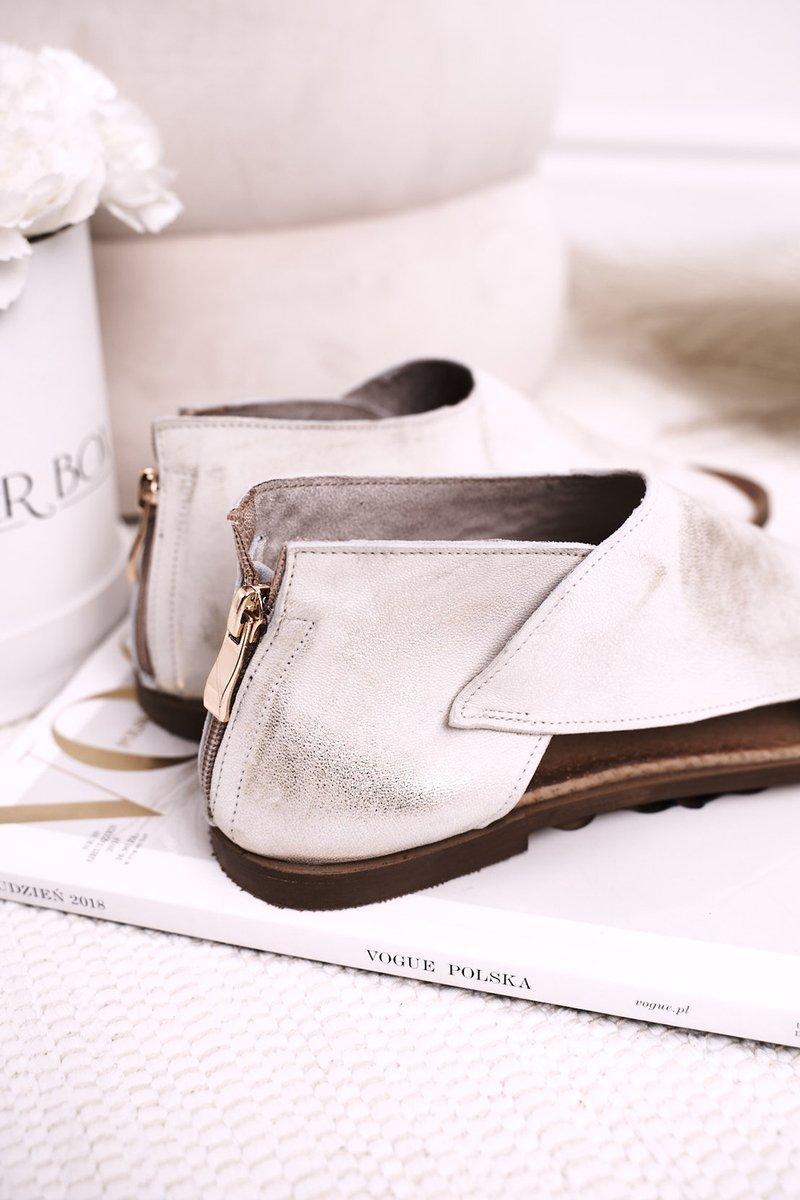 Lädersandaler För Kvinnor Vit Helen