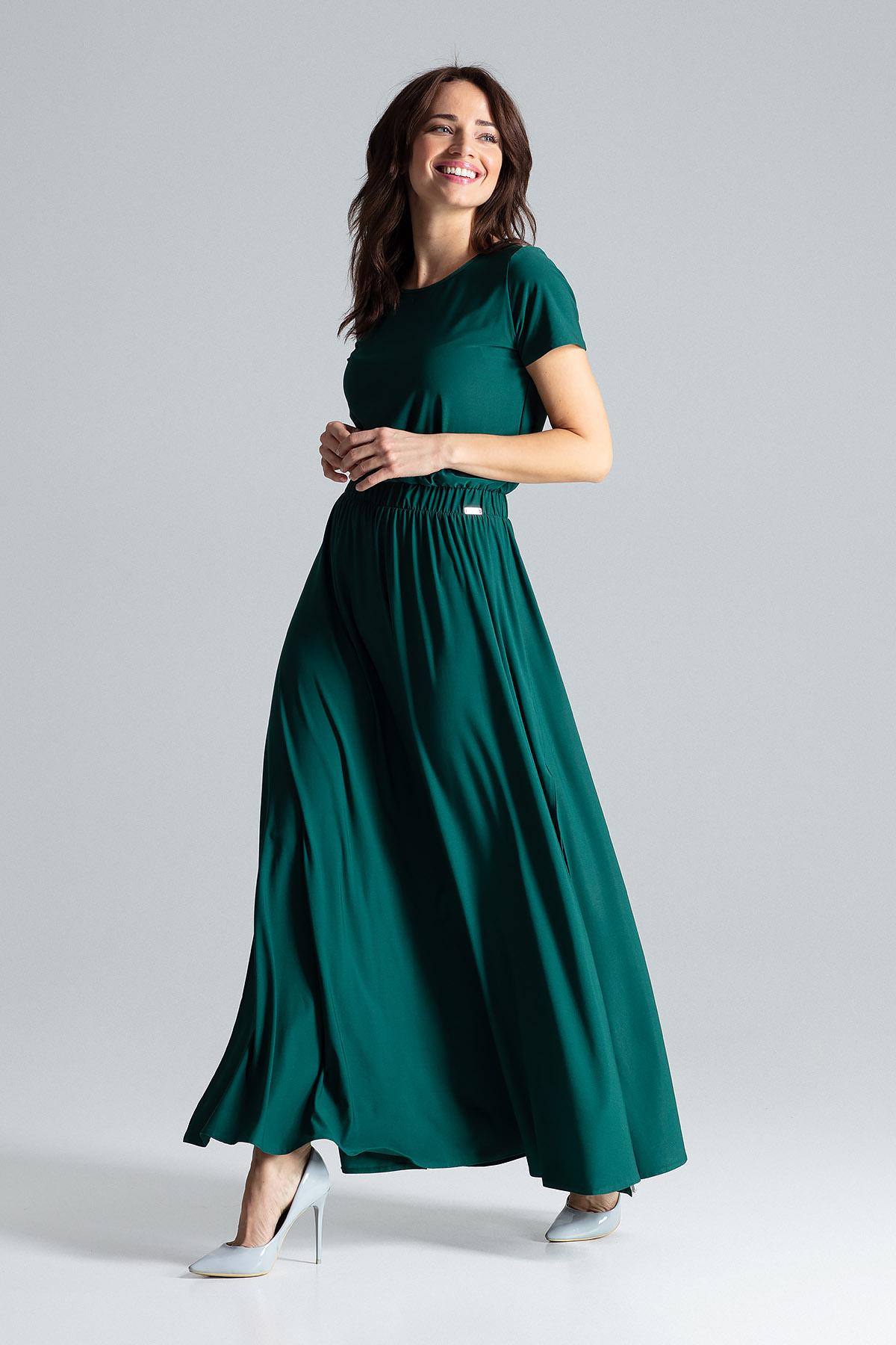 Lång Grön Klänning