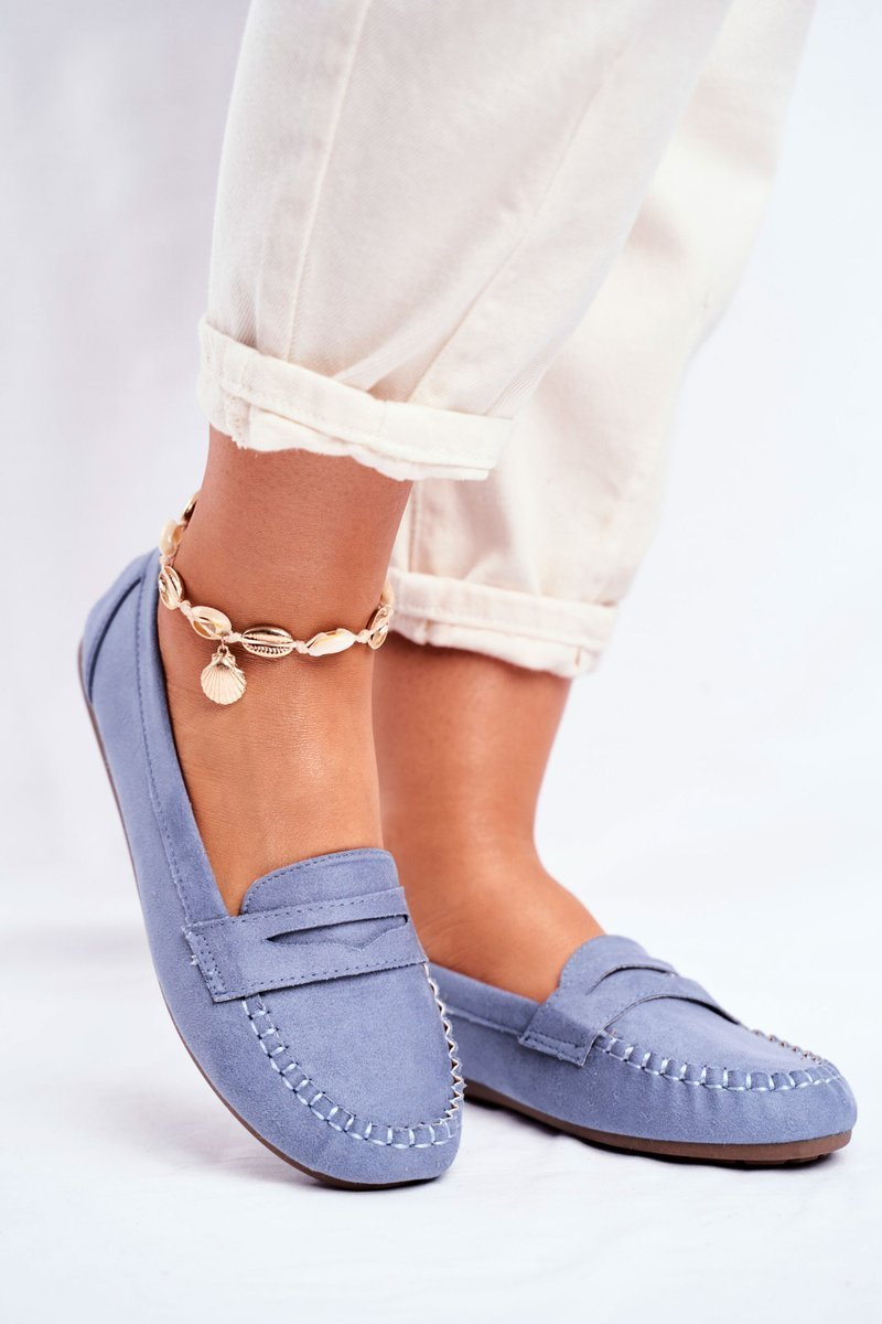 blå loafers dam
