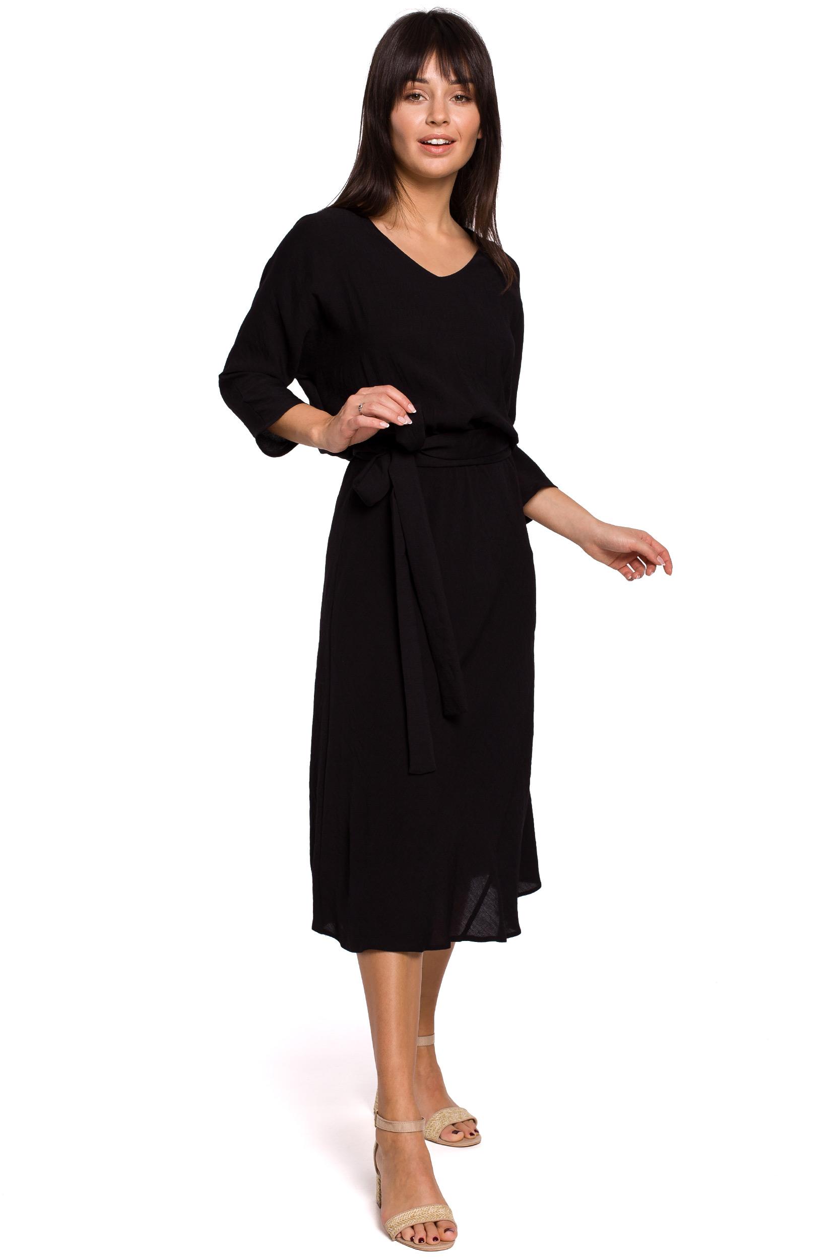 Silkesfin Klänning med knytband