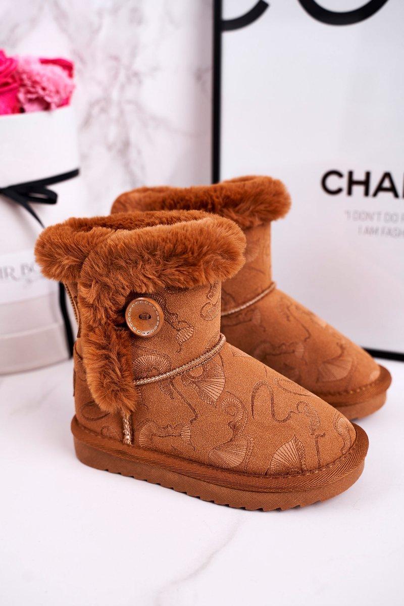 Snow boots för flickor med päls