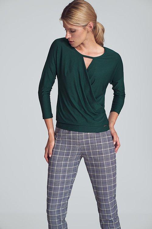 Grön elegant kort blus