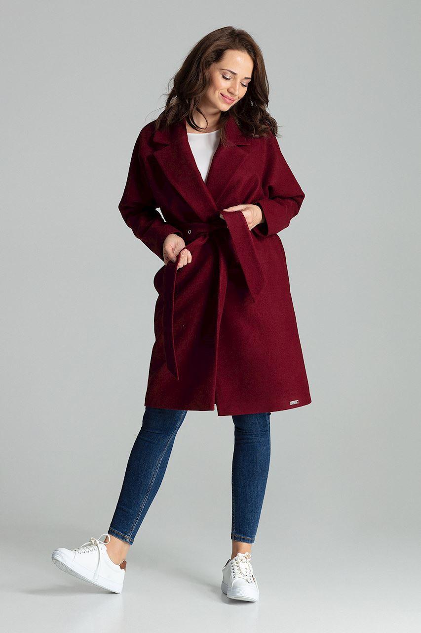Mörkröd Klassisk, enkel kappa