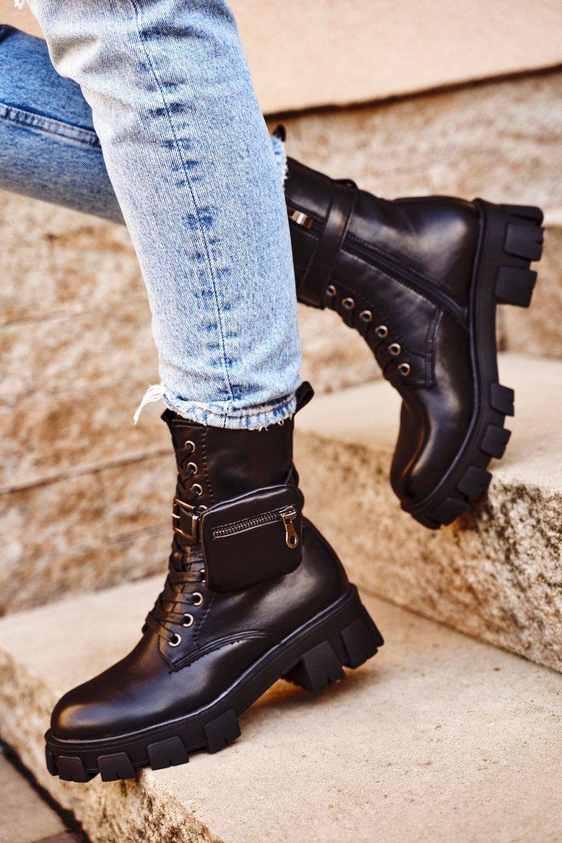 Boots med rejäla skodon Svart