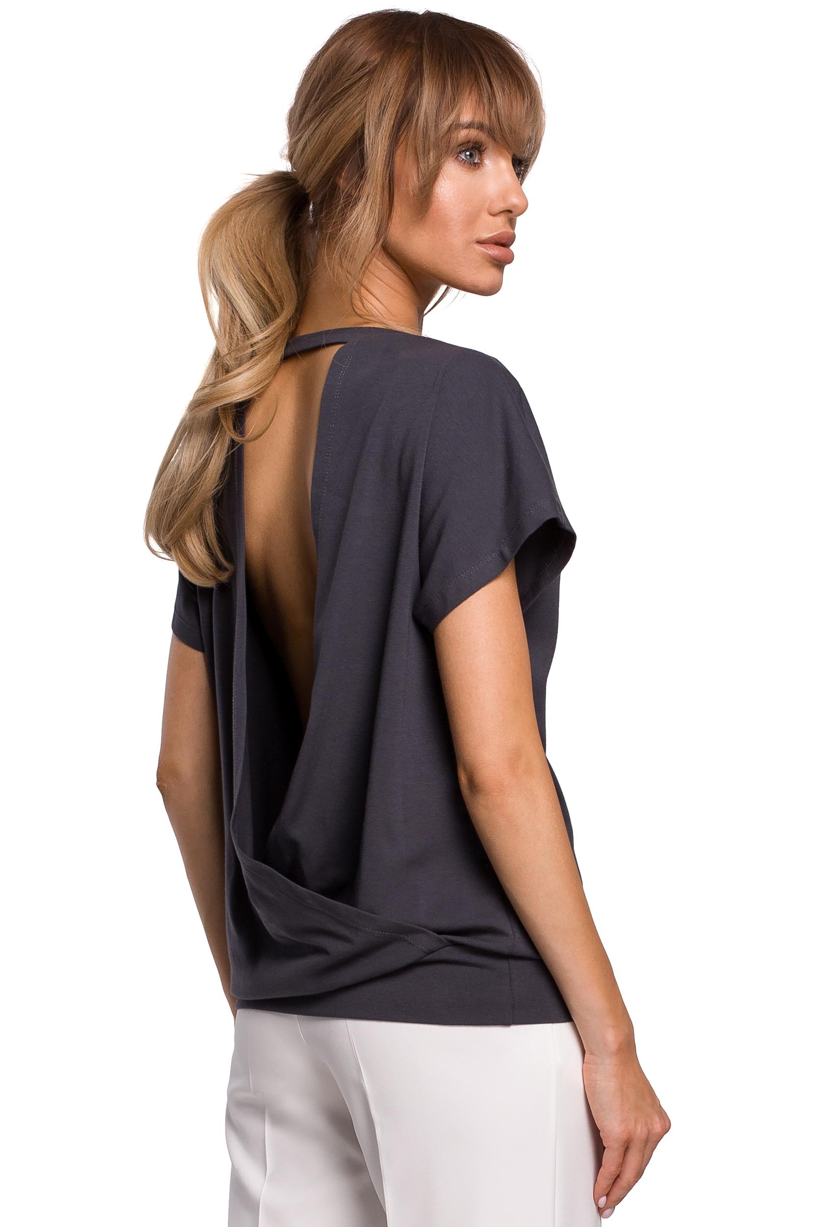 Mörkgrå T-shirt med öppen rygg