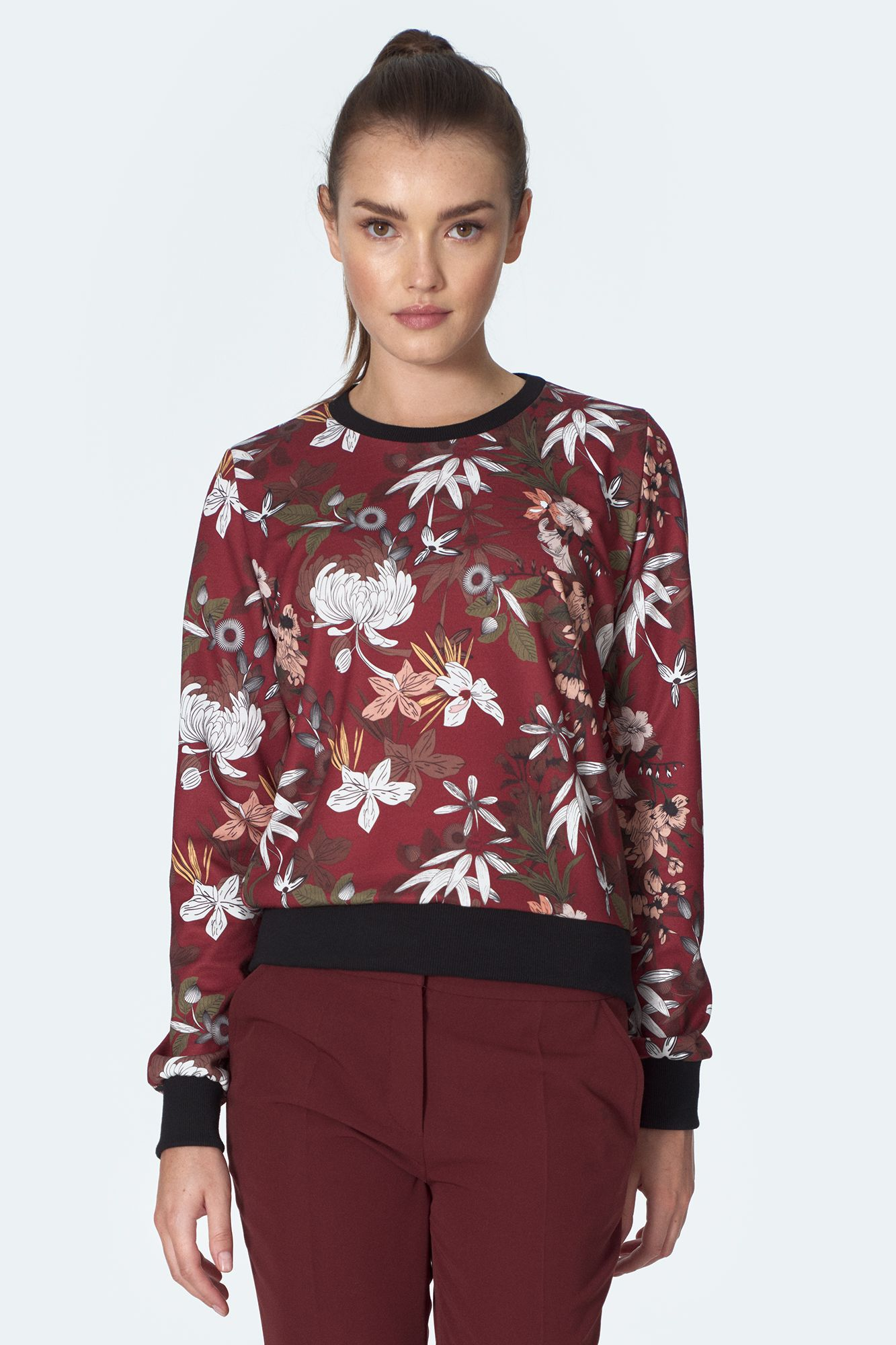 Bourgogne sweatshirt  Blommig