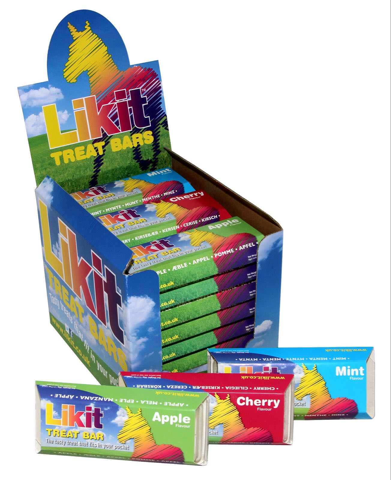 Likit Treat bar 4 pk (Mint/apple/carrot/cherry)