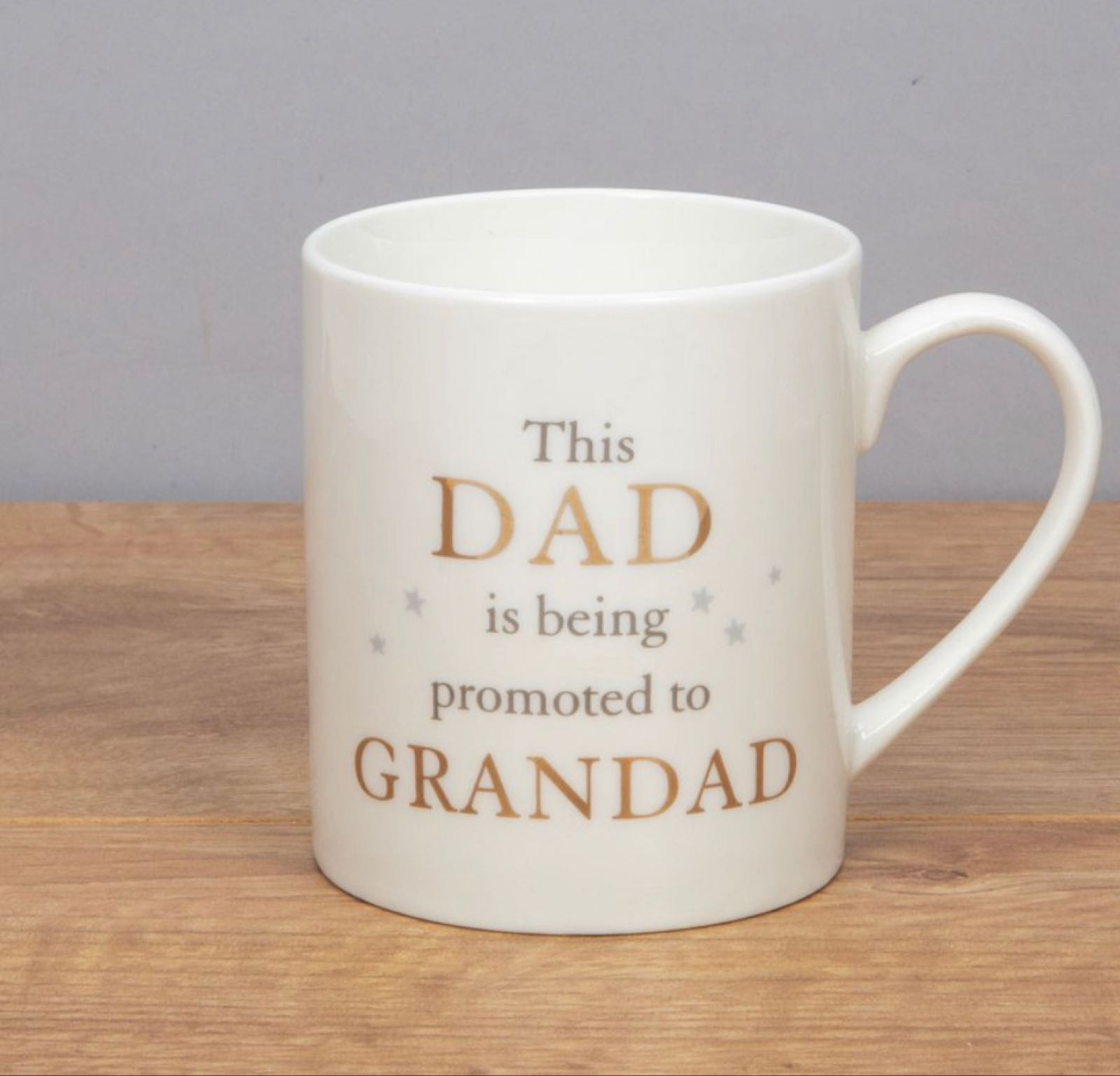Dad Promoted to Grandad Bone China Mug