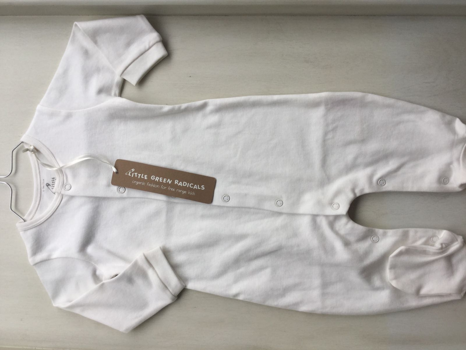 Little Green Radicals - Natural collection- long sleeve babygrow