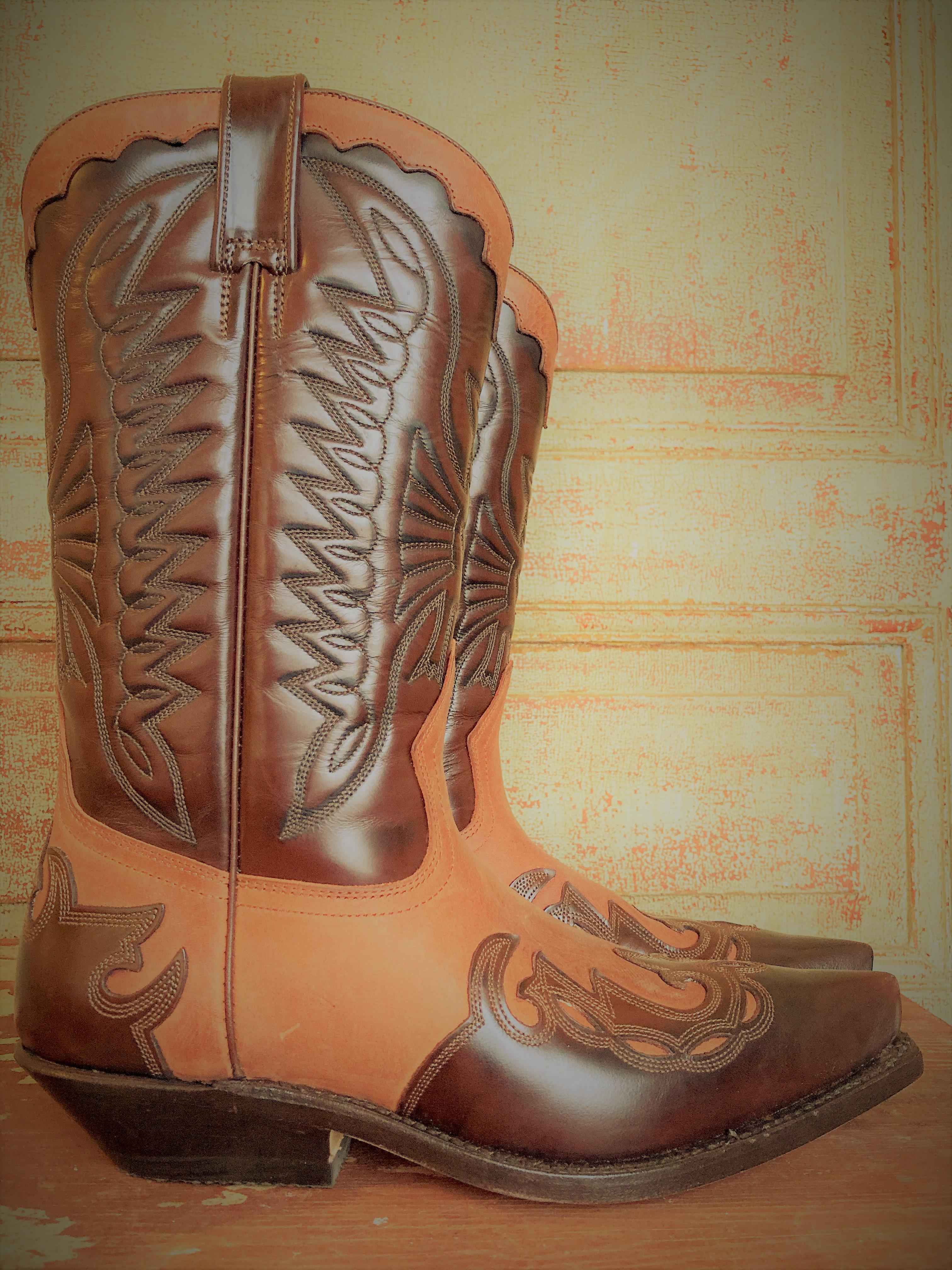 Boots brunt läder & mocka Primeboots