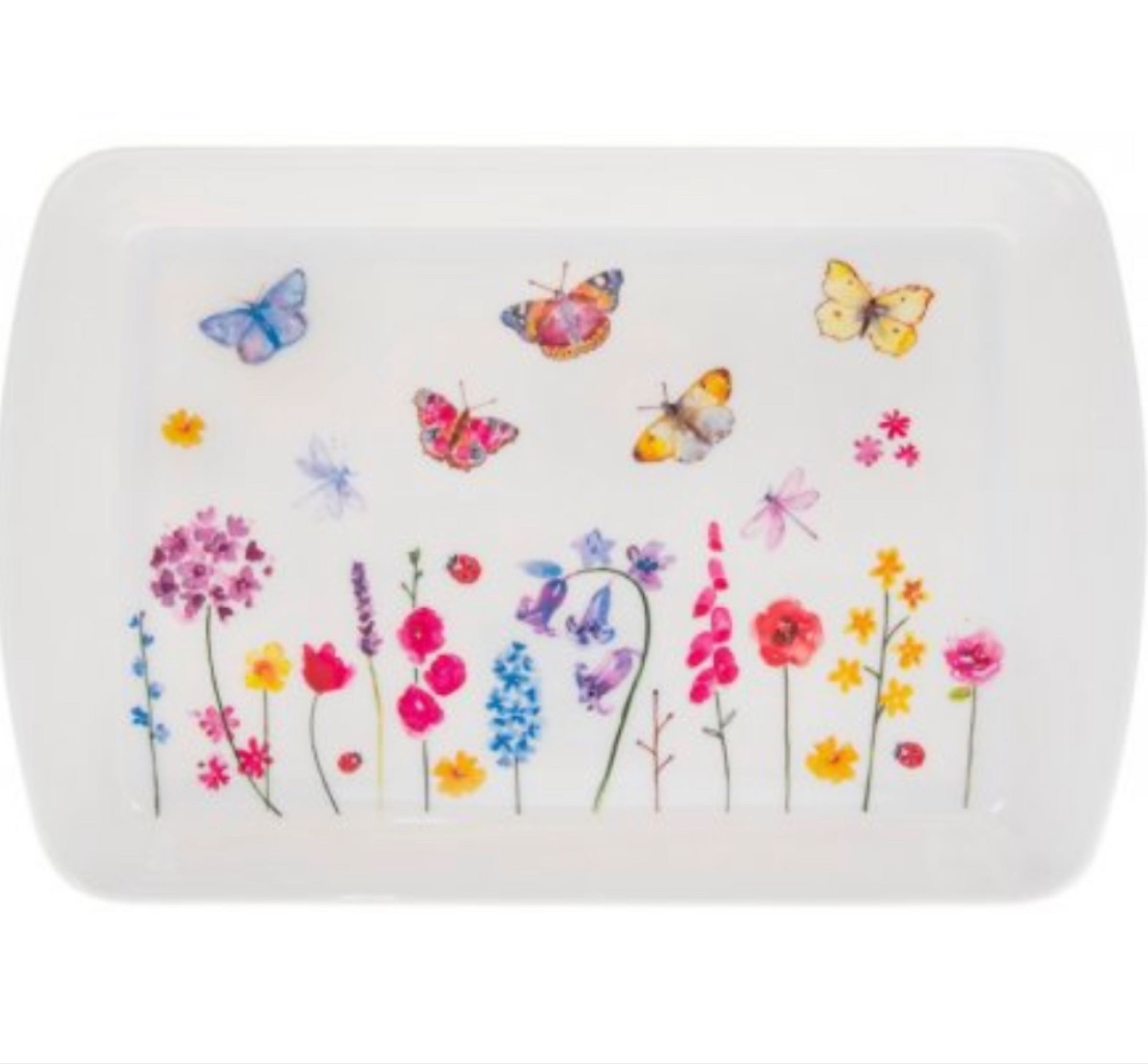 Butterfly Garden Small  Serving Tray