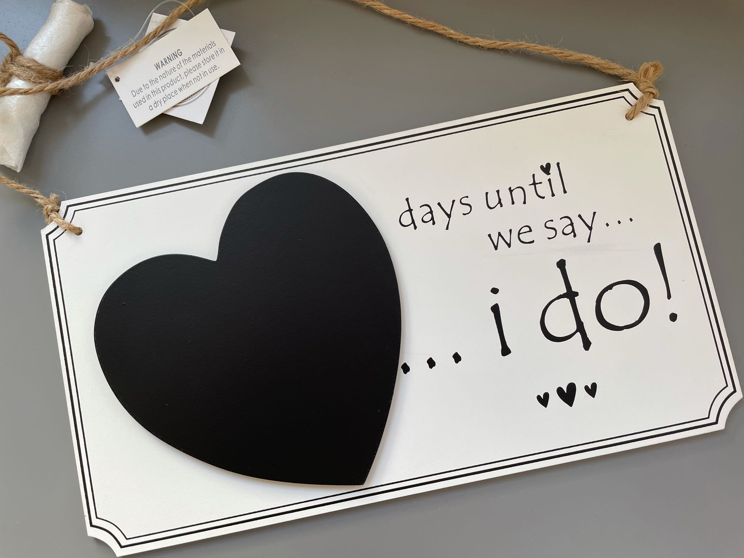 Chalkboard Wedding  Countdown