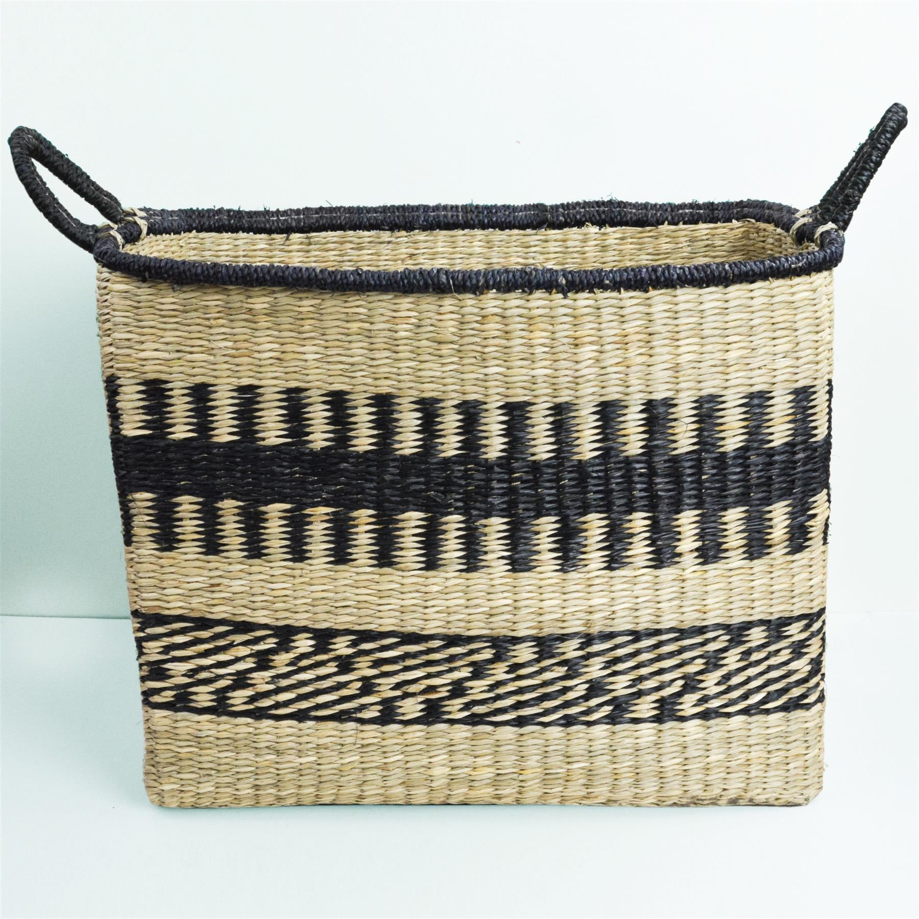 Abayomi Rectangular Stripe Basket by Dassie Artisan Large