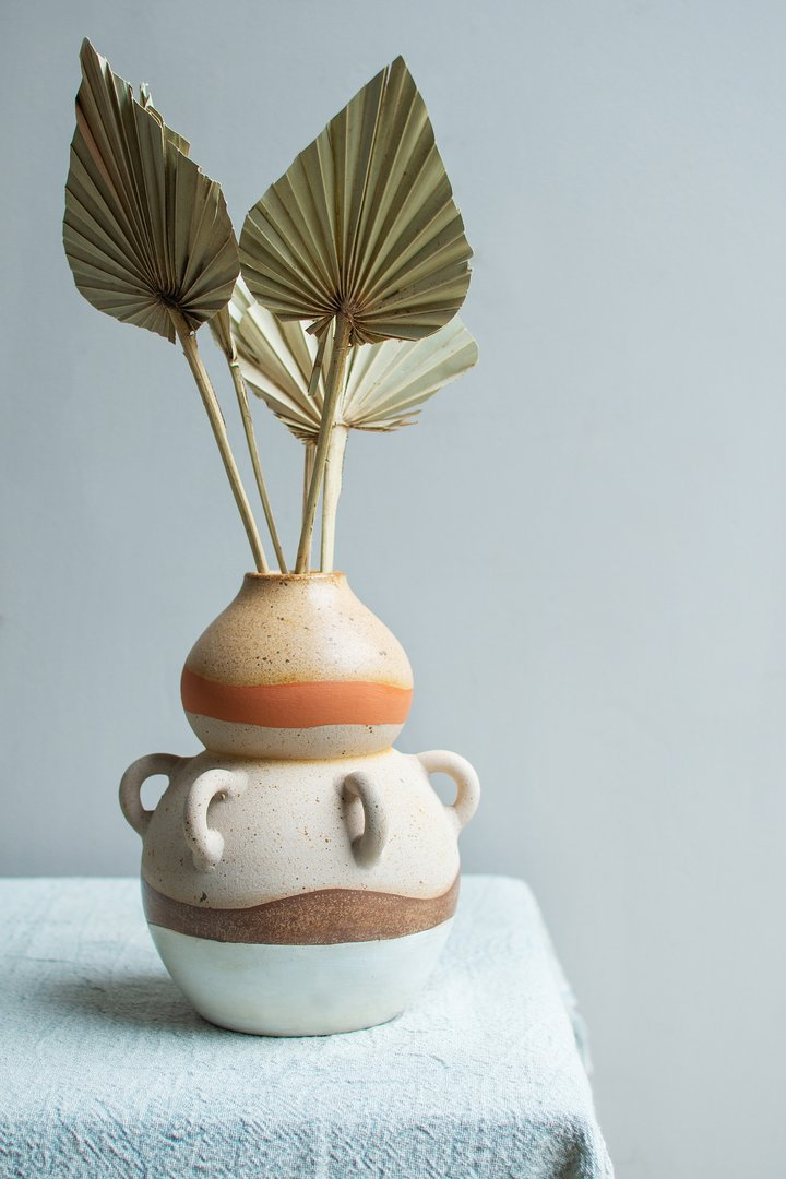 Ivory beitta vase by Ian Snow