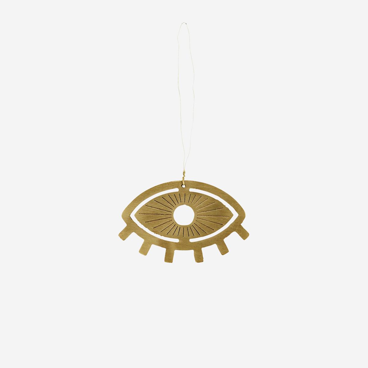 Hanging Brass Eye Ornament by Madam Stoltz