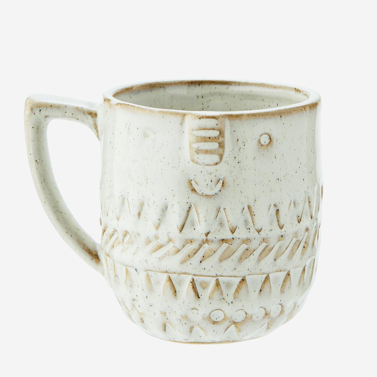 Stoneware Mug with Face