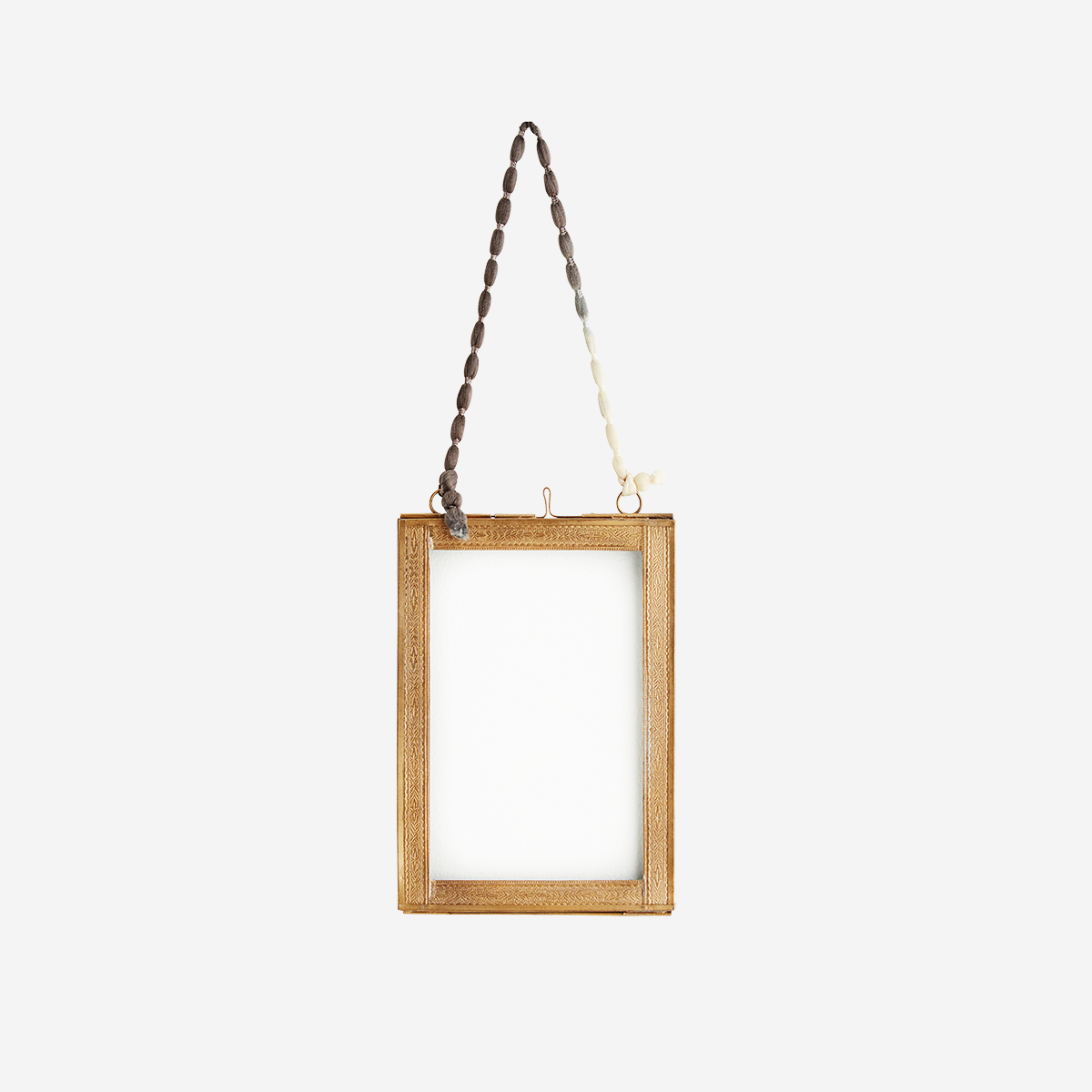 Hanging Photo frame with Brass Borders by Madam Stoltz