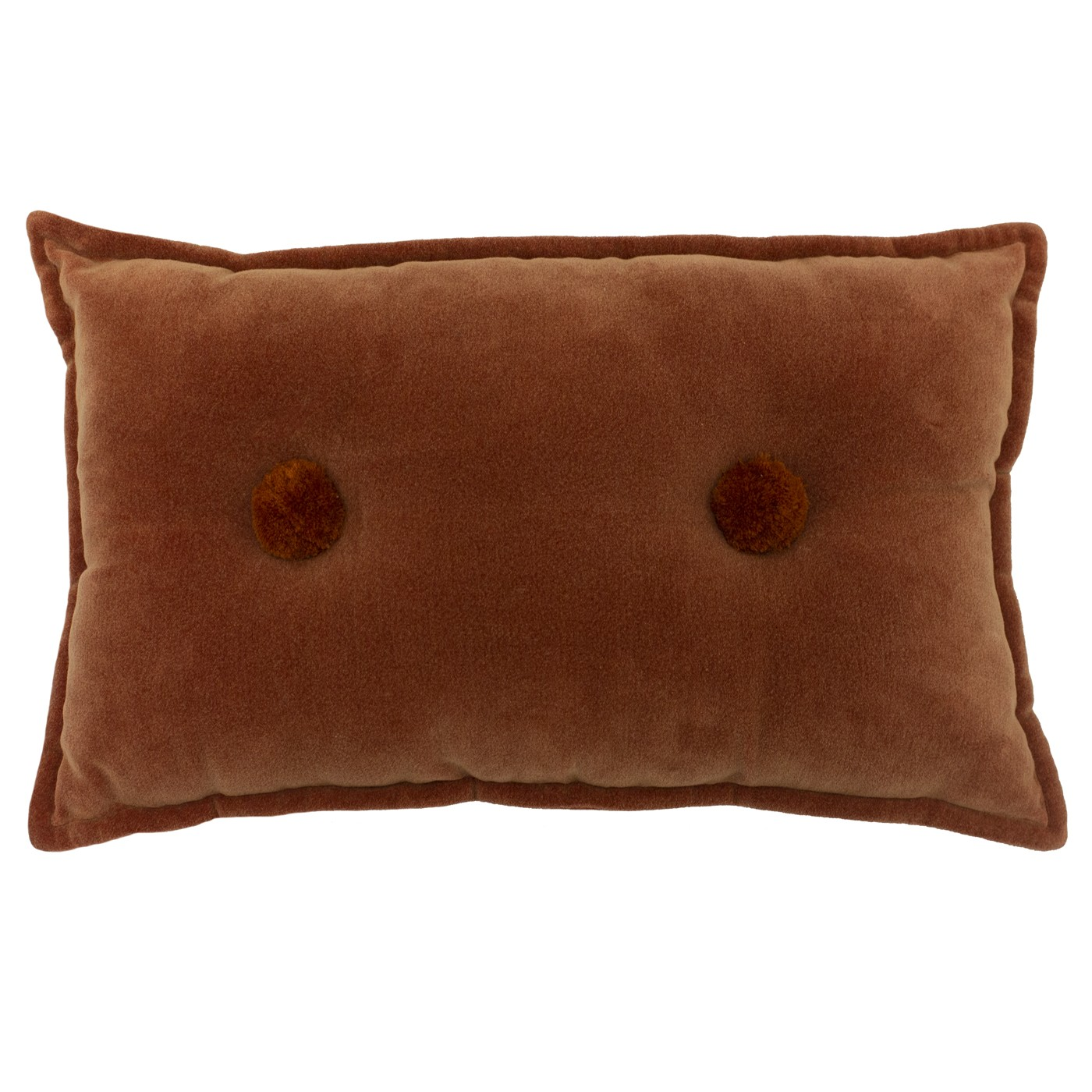 Bobble Cushion, Brick by furn.