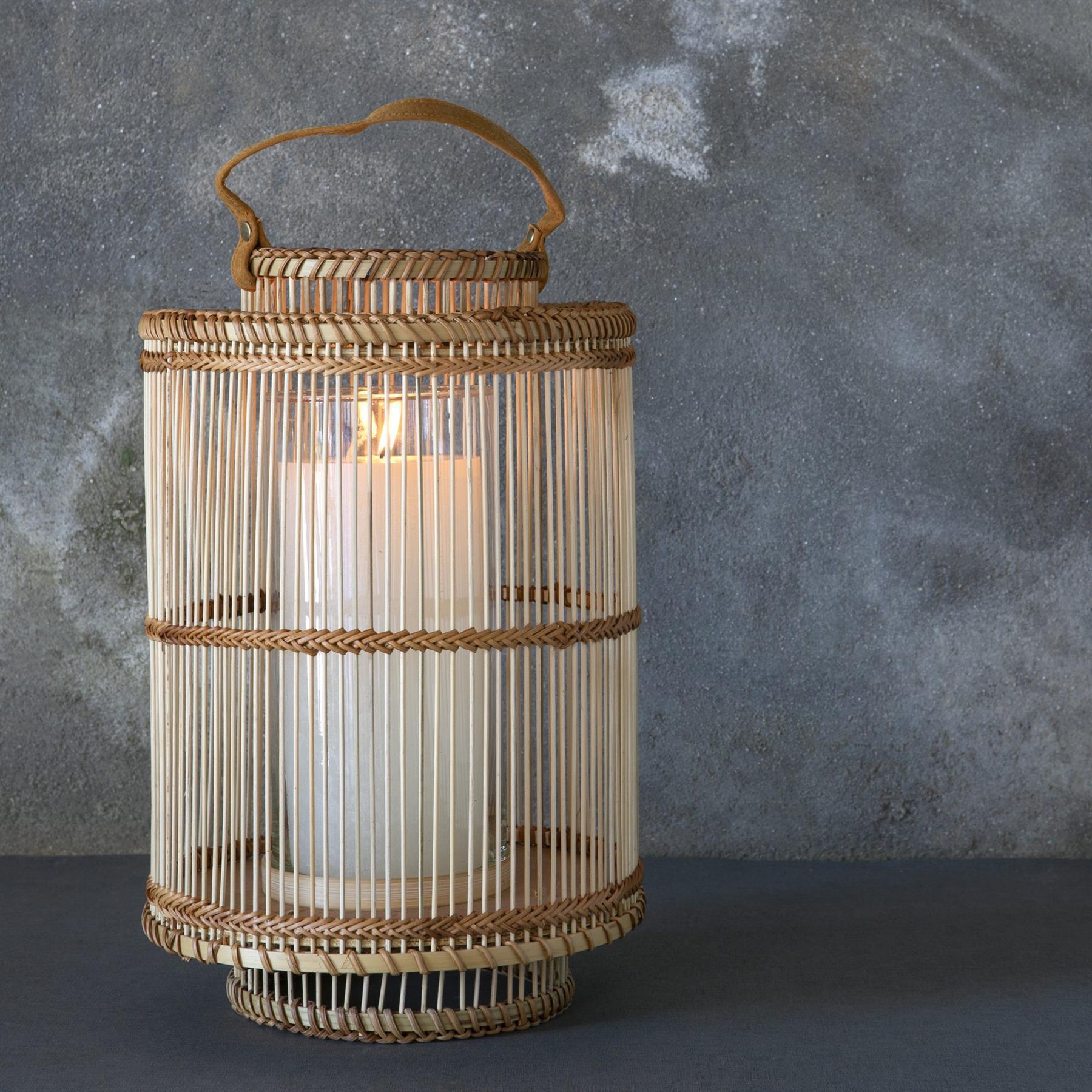 Ira Bamboo Lantern Natural Medium by Dassie Artisan